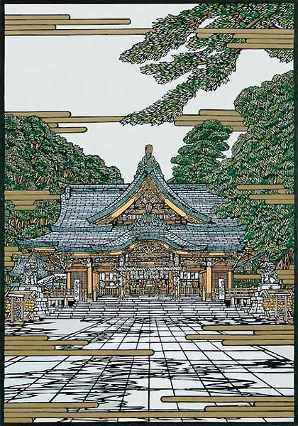 大宮八幡の図