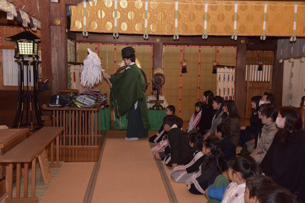 勧学祭・ランドセルお祓い式の様子