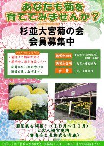 菊花展ポスター